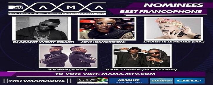 TOOFAN NOMINATED AT MTV AFRICA MUSIC AWARDS 2015