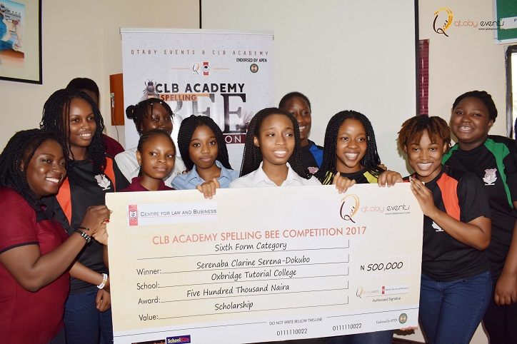 WINNERS OF 2017 CLB ACADEMY SPELLING BEE COMPETITION PRESENTED WITH PRIZES AND SCHOLARSHIPS